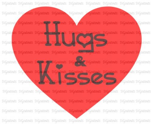 Hugs and Kisses Heart Design